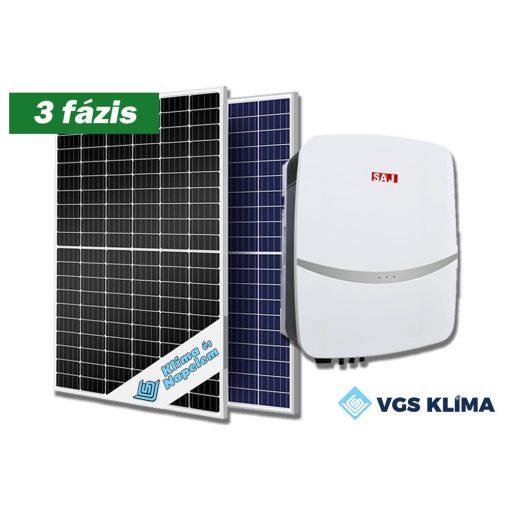 3 fázisú, 8,25 kWp teljesítményű napelem rendszer SAJ inverterrel