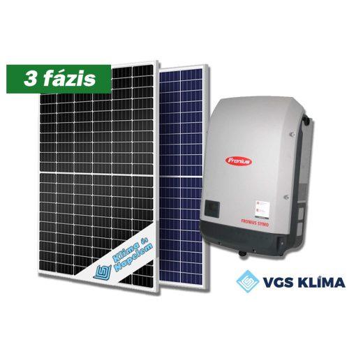 3 fázisú, 8,25 kWp teljesítményű napelem rendszer Fronius inverterrel