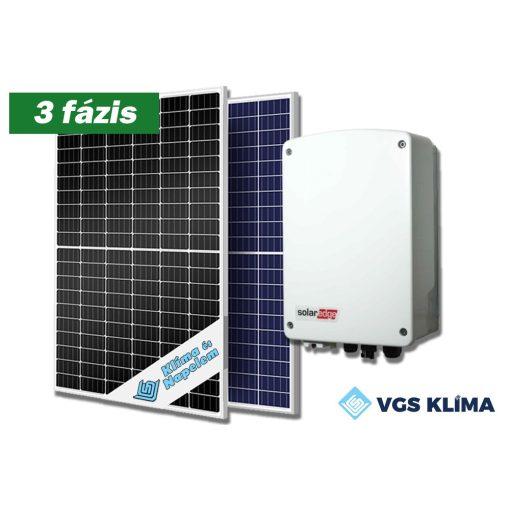 3 fázisú, 8,25 kWp teljesítményű napelem rendszer SolarEdge inverterrel