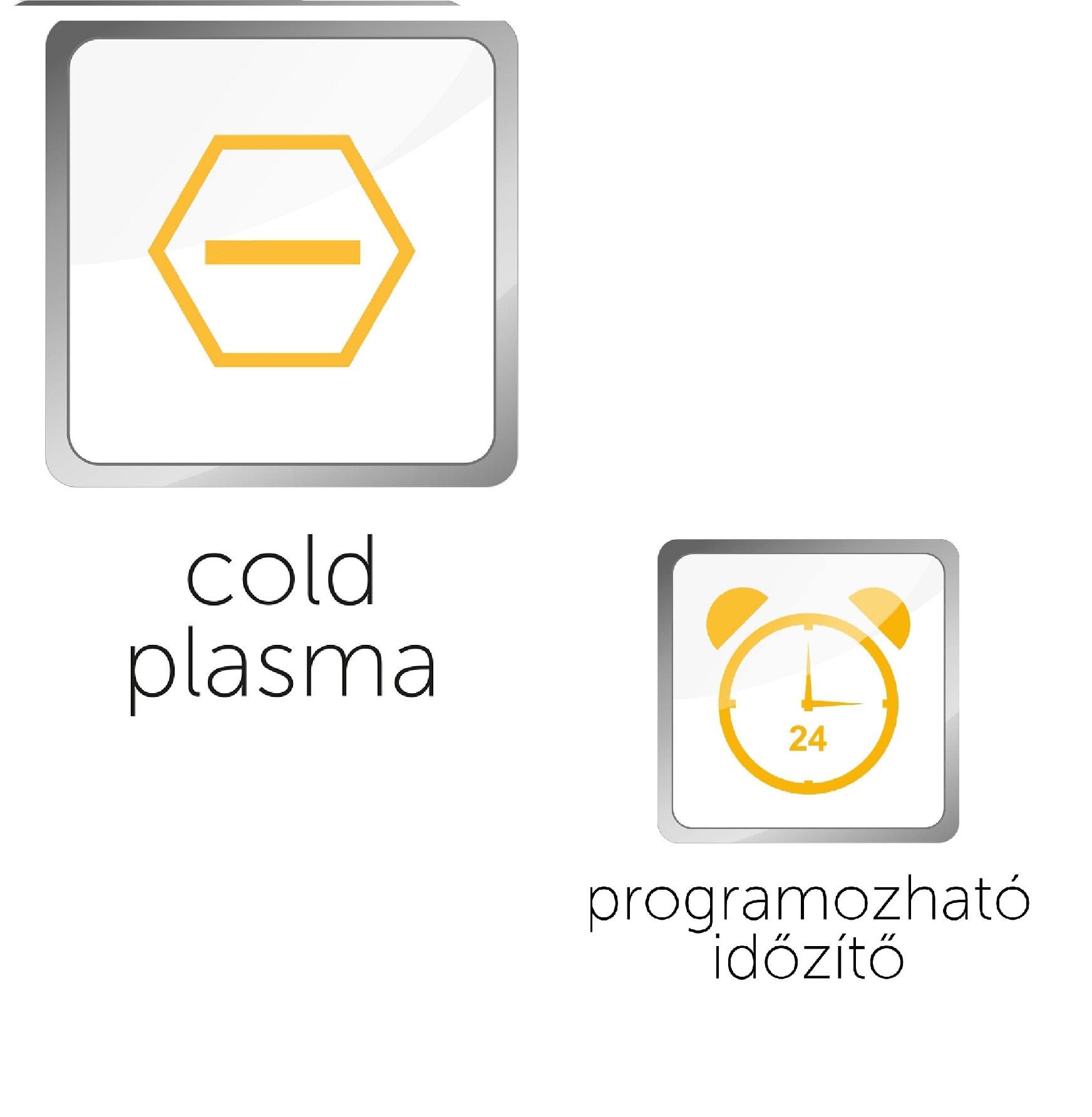 """A """"Hideg plazma"""" és az """"Automatikus tisztítás"""" funkciók felhasználása"""